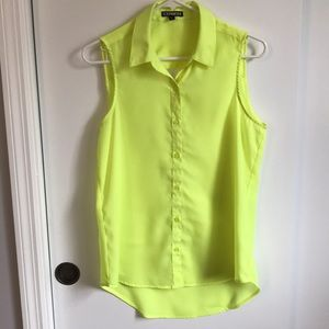 Express | neon yellow sleeveless portofino